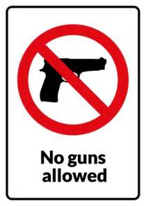 no guns sign template how to create a no guns sign