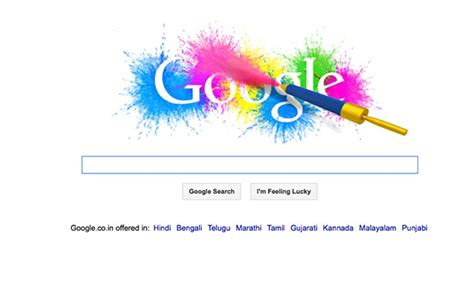 doodle india 2014 holi doodle brightens up india as country