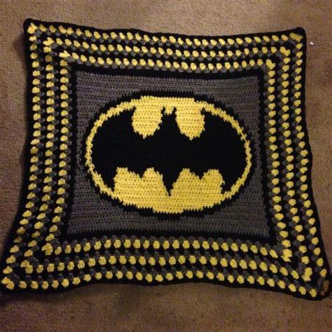 free crochet pattern batman logo super hero batman crochet blanket 38 x 34 by
