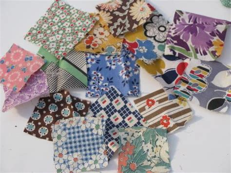 Patchwork Pieces - lot vintage stitched pieced quilt blocks square