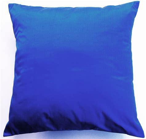 Blue Sofa Pillows Blue Pillow Cover Silk Cobalt Blue Throw Pillow By Sassypillows