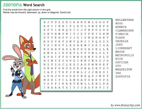 World Search Printable Disney Word Search 2 Disney S World Of