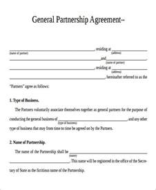 partnership agreement template pdf agreement form format