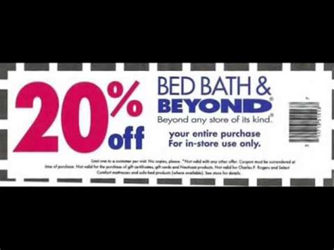 bed bath and beyond tanasbourne bed bath and beyond coupon youtube