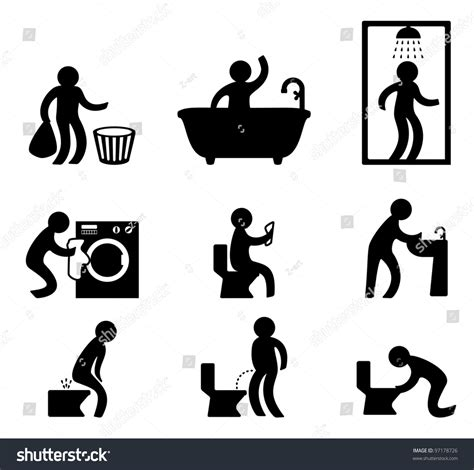 bathroom sign people people in various situation bathroom and toilet theme