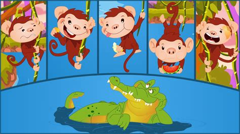 5 little monkeys swinging on a tree five little monkeys swinging in a tree 5 little monkeys