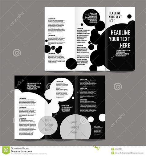 black brochure template brochure design template stock vector image of print