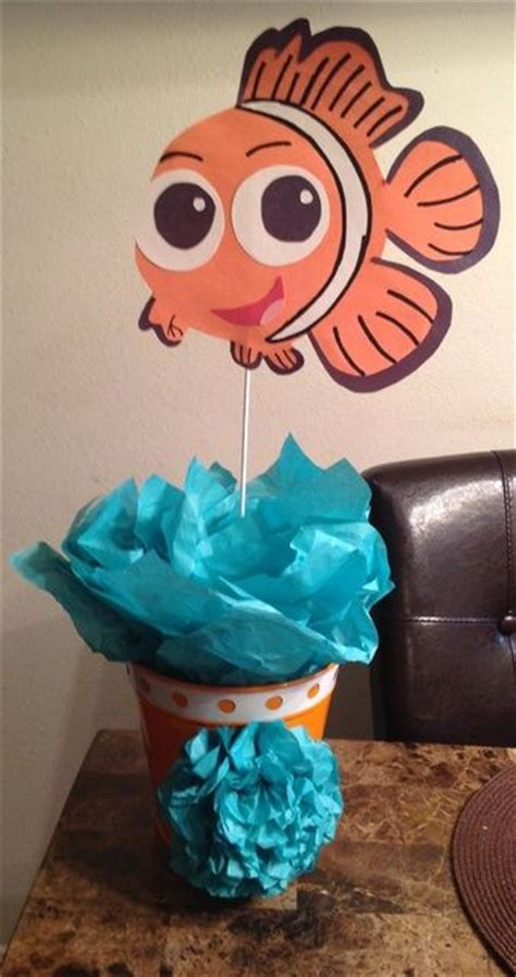 finding nemo centerpieces and 1st birthdays on pinterest