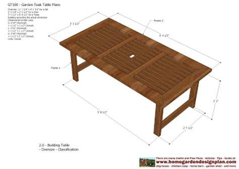 outdoor table plans woodworking home garden plans gt100 garden teak tables