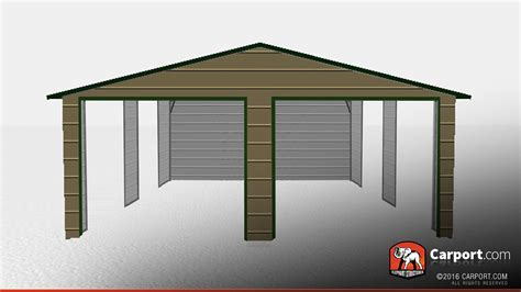 Auto Shelter Metal 22 X 26 Metal Car Shelter With Gables Shop Metal