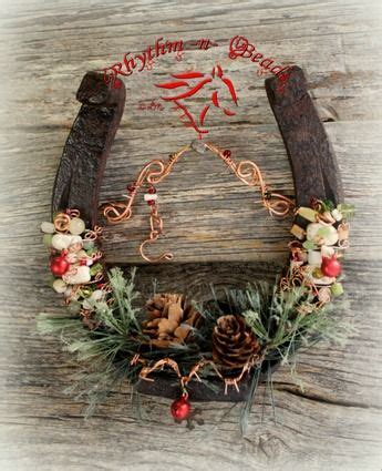 lucky colors christmas decor beaded horseshoe country draft horseshoe decor horseshoe