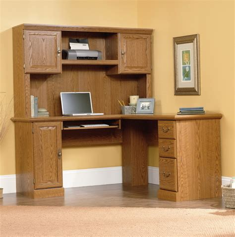 sauder corner computer desk with hutch solid wood computer desk with hutch sauder harvest mill