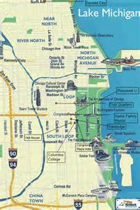 Chicago Sightseeing Map by Map Of Chicago Tourist Atractions Images Frompo 1