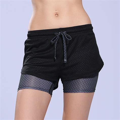 Wanita Motif Floral Size S Yellow 1 celana pendek olahraga wanita tight sport fitness running
