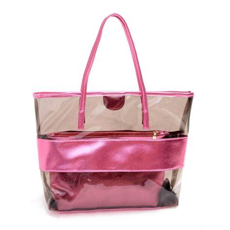 Vogue Tote Bag large jelly tote transparent clear handbag shoulder