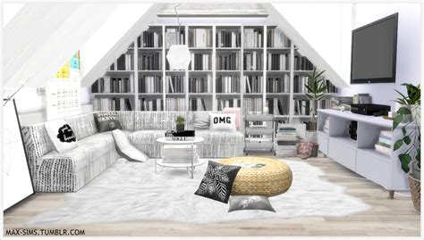 Scandinavian Livingroom by Max Sims Brittany S Apartment I Feel Bored Sims 4 Cc