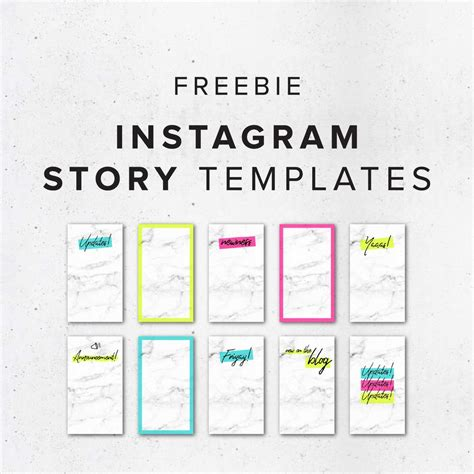 Freebie Colorful Instagram Story Templates Big Cat Creative Branding And Website Design For Instagram Story Template