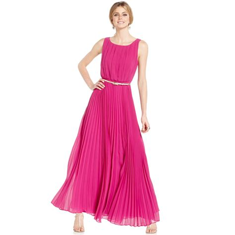 Dress Maxi Dress Wanita Maxi 1 lyst eliza j sleeveless pleated maxi dress in pink