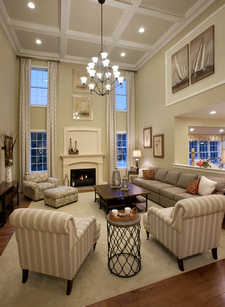 decorating with high ceilings family room welcoming i like the idea to have a family room off the