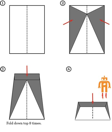 Steps How To Make A Paper Airplane - on how to make paper airplanes that fly far
