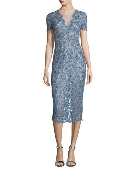 Lace Midi Cocktail Dress packham sleeve lace midi cocktail dress denim