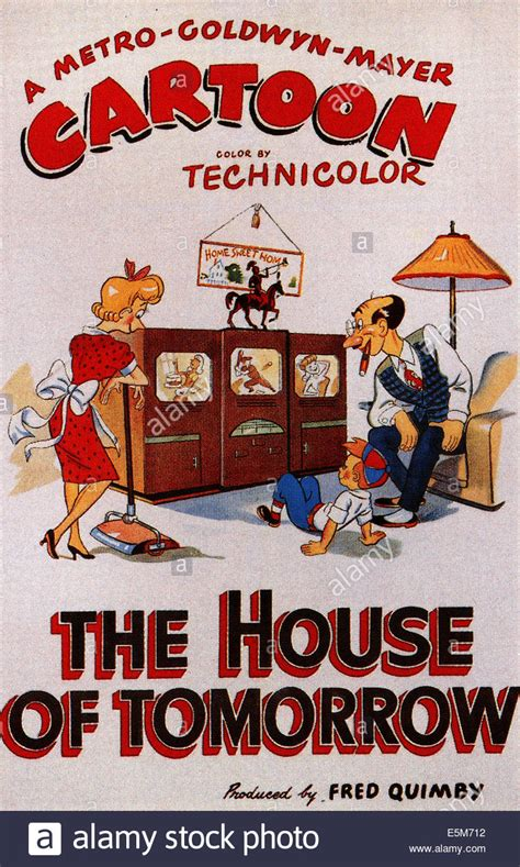 the house of tomorrow the house of tomorrow poster art for tex avery animated short 1949 stock photo