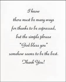 quotes for thank you cards quotesgram