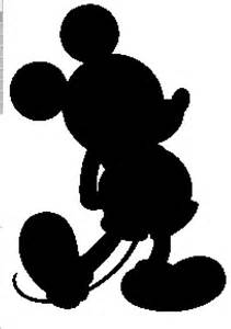 Mickey Mouse Silhouette Template mickey mouse silhouette crochet graphghan pattern
