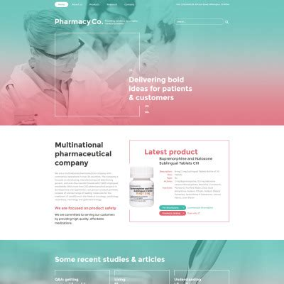 Bootstrap Templates For Pharmacy | drug store website templates