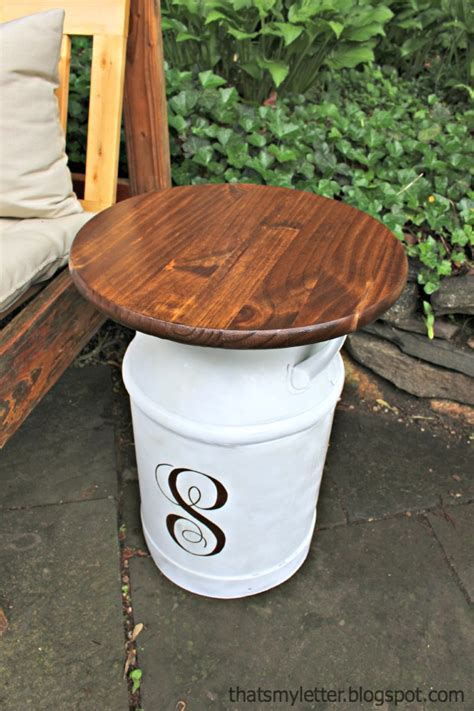 repurposed vintage milk jug side tables pretty handy