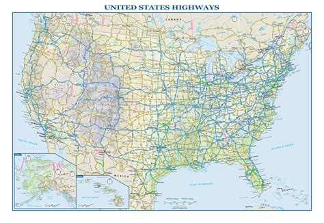 usa map interstate usa interstate highways wall map