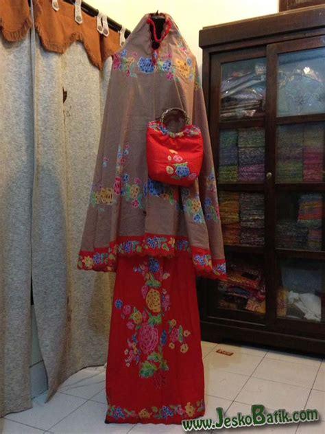 Mukena Kombinasi Batik mukena batik pekalongan batik cap dan bordir m1 04
