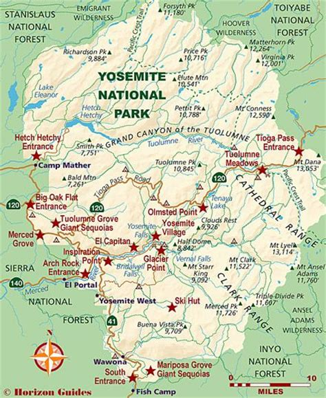 california map near yosemite national parks travel guide and yosemite national park on