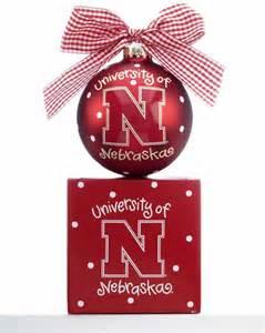 university of nebraska logo personalized ornament