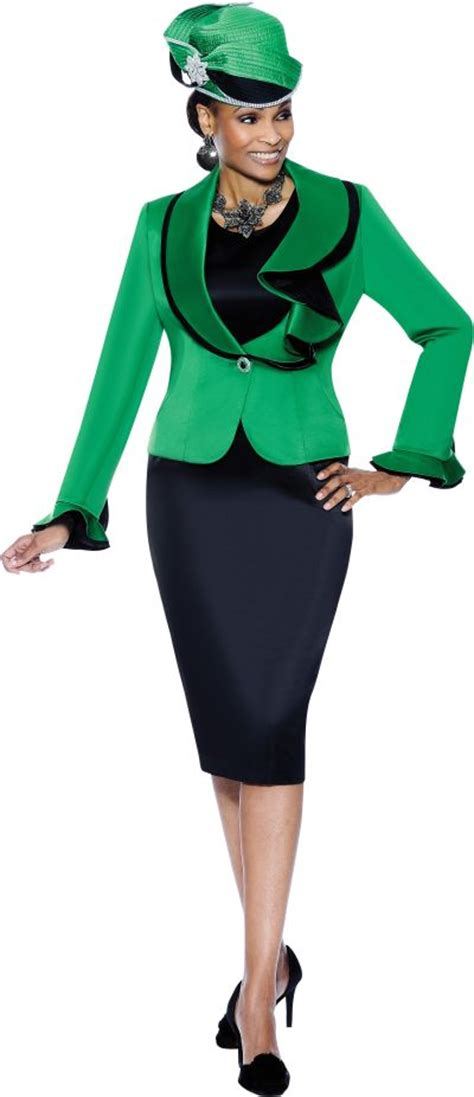 Jc Jacket Vinci terramina 7285 womens emerald green church suit