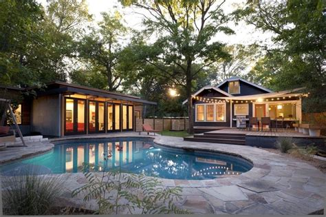 backyard pool houses travis heights pool modern pool austin by
