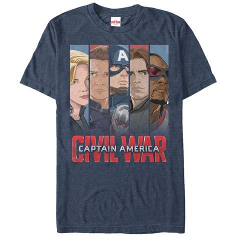 Captain Tshirt captain america civil war captain banners t shirt