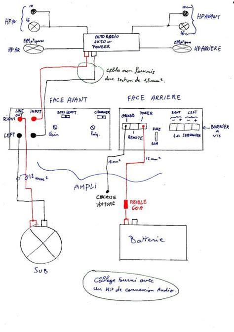 Crossover Domeno Subwofer schema electrique sono voiture