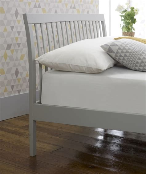 gray wood bed limelight ananke 4ft small double grey wooden bed frame by