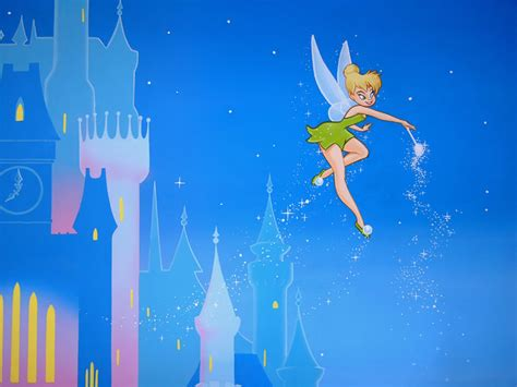 purple walls that look like tinkerbell just flew threw the peter pan mural tinkerbell disney mural cinderella fairy