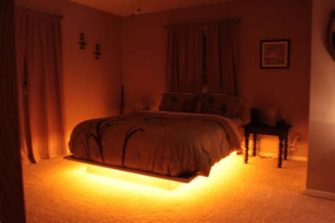 bed with lights our latest addition to our platform bed rope lighting