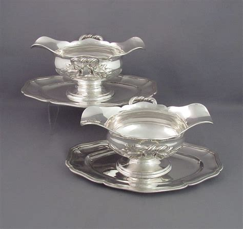 gravy boat in spanish pair of french 950 silver gravy boats j h tee antiques