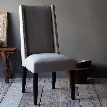 nailhead dining chair grey charcoal grey nailhead accented side chairs set of 2