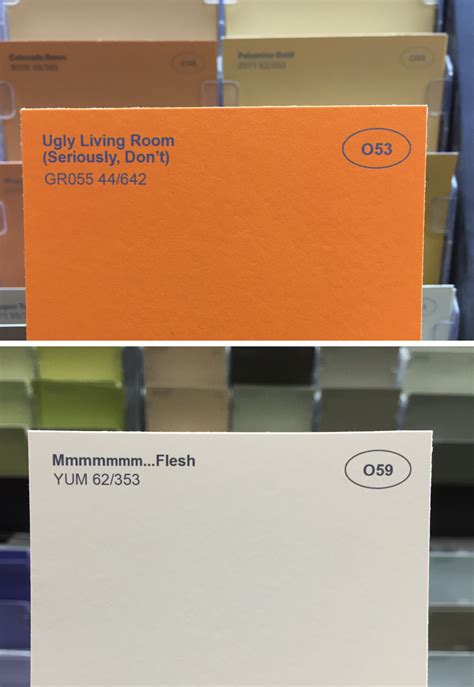 punny color name obvious plant renamed paint colors