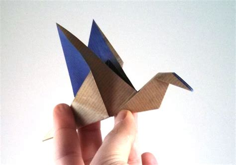 Origami Flying Swan - interesting origami flying bird 2016