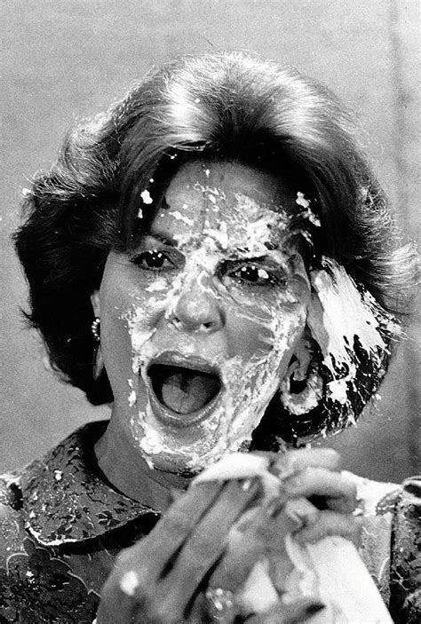 anita bryant anita bryant reacts to being pied in the face by a