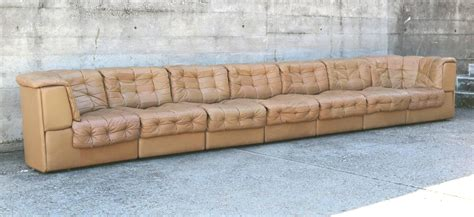light brown leather sectional de sede light brown leather modular sofa for sale at 1stdibs