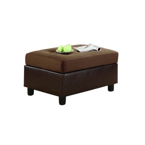 Chocolate Microfiber Ottoman Trent Home Comfort Living Rhino Microfiber Ottoman In Chocolate Brown 9909ch 4