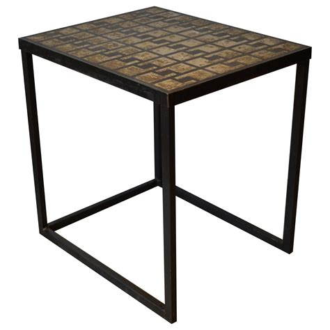 Concrete Side Table Industrial Iron And Concrete Top Side Table For Sale At