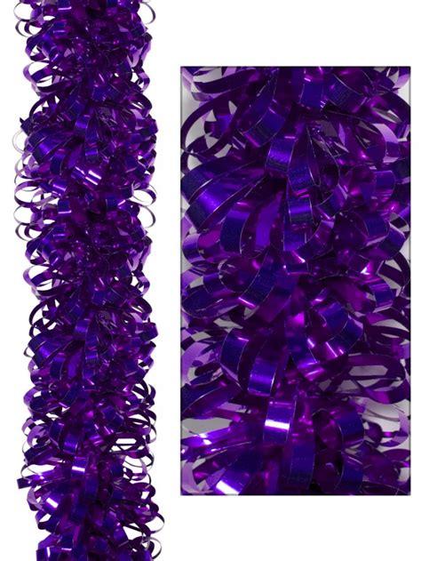 purple tinsel tree looped metallic purple tinsel garland 2m